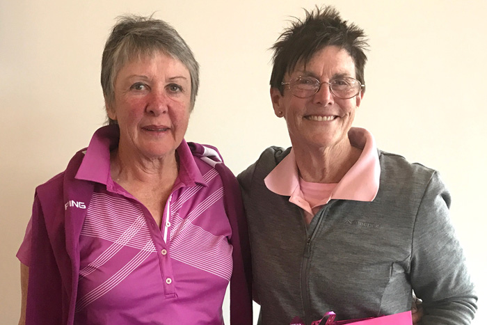 Winners Betty McGuinness & Kay Johnston with 39 pts