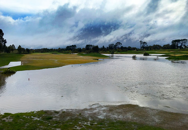 125mm of Rain closes Course